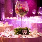 Tall Glass Wedding Table Centerpieces