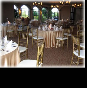 wedding table covers - gold