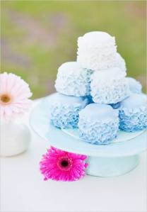 Creative Wedding Cake Ideas - Ombre Wedding Cake Alternative
