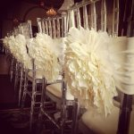 Ruffled Wedding Reception Chair Decorations