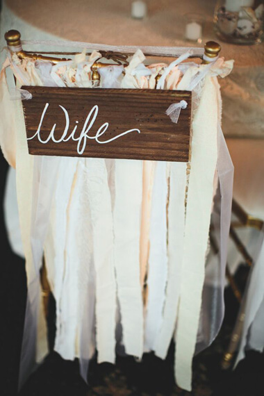 Diy Bride And Groom Wedding Chair Back Decorations
