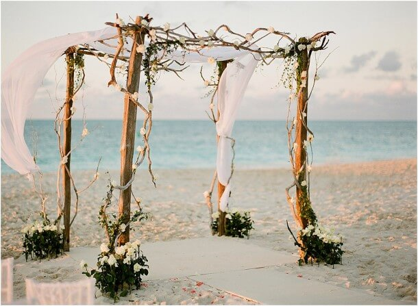 Beach Wedding With Rustic Design Elements