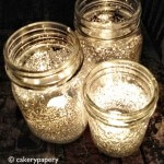 Mason Jar Glitter Candle Holder DIY