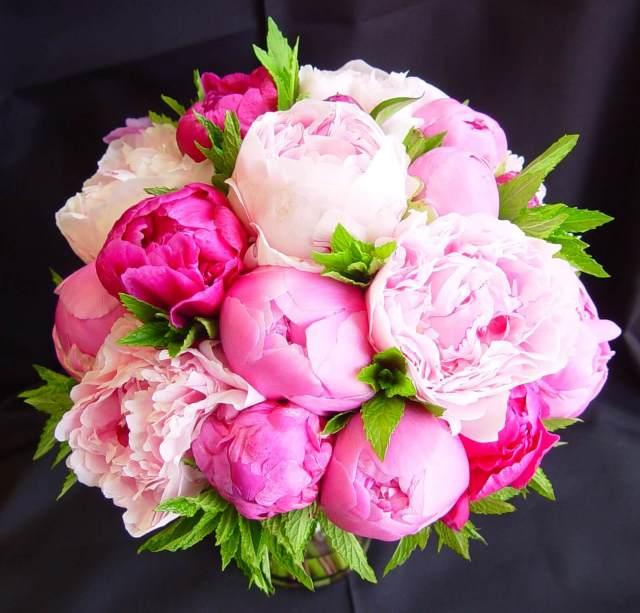 Pink Peony Spring Wedding Bouquet