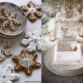 Holiday Season wedding snowflake cookies
