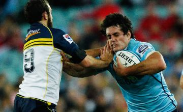 Dave Dennis is tackled in a previous Waratahs v Brumbies clash