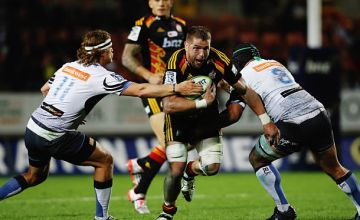 Johan Bardoul on the charge for the Chiefs in 2015