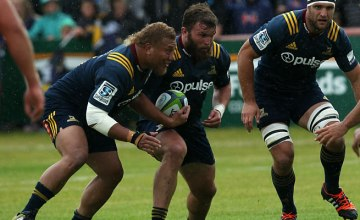 Liam Coltman (centre) returns to Super Rugby this weekend