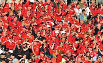 British and Irish Lions fans pack a stadium