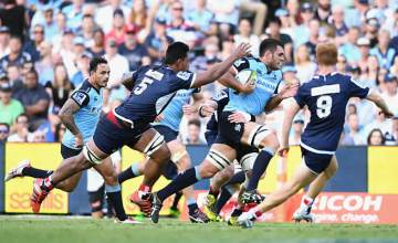 Dave Dennis on the charge for the Waratahs