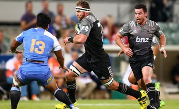 Kieran Read on the charge for the Crusaders