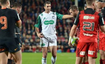 Craig Joubert will become the third referee in history to officiate 100 Super Rugby matches