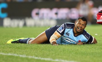 Kurtley Beale calls a medic for help