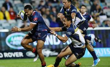 Sefanaia Naivalu on the charge for the Rebels