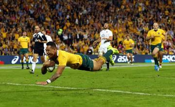 Israel Folau scored for Australia against England