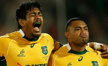 Will Skelton (L) will start for Australia against England