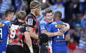 Stormers wing Huw Jones scored three tries