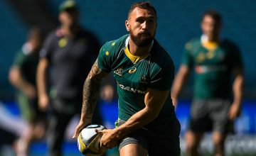 Quade Cooper at the Wallabies captain's run