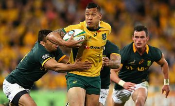Israel Folau on the charge for Australia