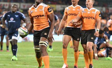 Oupa Mohoje of the Cheetahs during the Super Rugby match between Cheetahs and Bulls