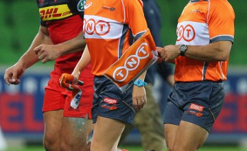 Referee Nic Berry (R) starts the Super Rugby action this weekend