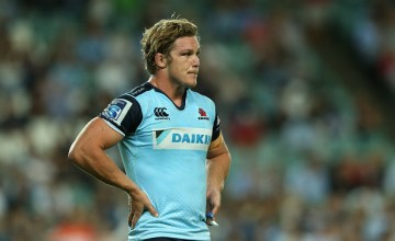 Waratahs captain Michael Hooper looks on during a Super Rugby match