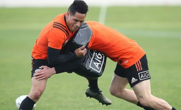 Aaron Smith of the All Blacks during a New Zealand All Blacks training session at Alexandra Park