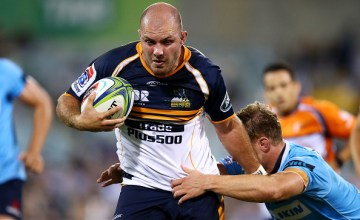 Lachlan McCaffrey of the Brumbies runs the ball during the round seven Super Rugby match between the Brumbies and the Waratahs