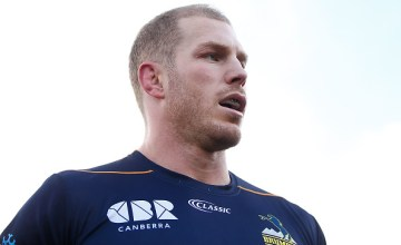 David Pocock of the Brumbies looks on