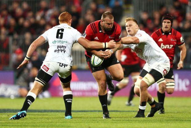 Super Rugby Rd 12 – Crusaders v Sharks Joe Moody