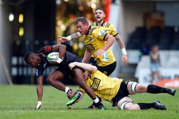 Aphelele Fassi of the Sharks