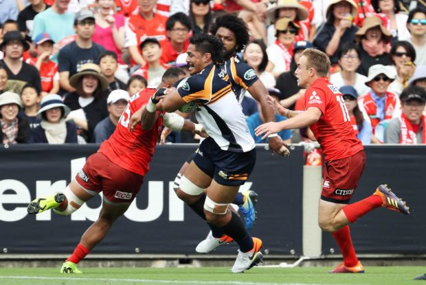 Pete Samu of the Brumbies