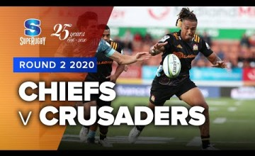 Chiefs v Crusaders Rd.2 2020 Super rugby video highlights