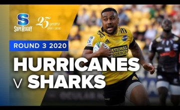 Hurricanes v Sharks Rd.3 2020 Super rugby video highlights
