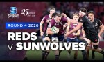 Reds v Sunwolves Rd.4 2020 Super rugby video highlights