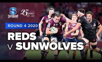 Reds v Sunwolves Rd.4 2020 Super rugby video highlights