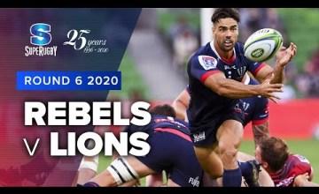 Rebels v Lions Rd.6 2020 Super rugby video highlights