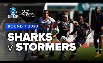 Sharks v Stormers Rd.7 2020 Super rugby video highlights