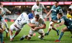 Dalton Papalii of the Blues grabbed a brace as the Blues beat the Highlanders at Eden Park, Auckland