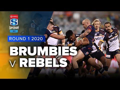 Brumbies v Rebels Rd.1 2020 Super rugby Australia video highlights
