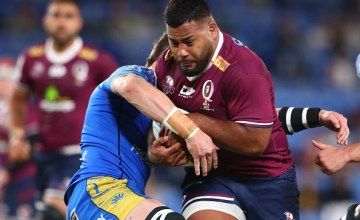 Taniela Tupou starred in the Reds' rout of the woeful Western Force at Cbus Super Stadium, Gold Coast