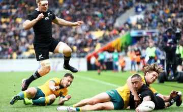 WELLINGTON, NEW ZEALAND - OCTOBER 11: Aaron Smith of the All Blacks scores a try during the Bledisloe Cup match between the New Zealand All Blacks and the Australian Wallabies at Sky Stadium on October 11, 2020 in Wellington, New Zealand. (Photo by Hagen Hopkins/Getty Images)