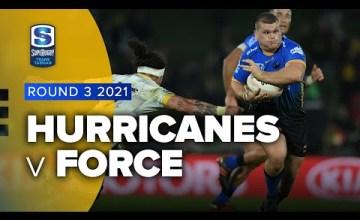 Hurricanes v Force Rd.3 2021 Super rugby Trans Tasman video highlights