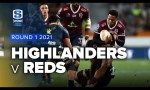 Highlanders v Reds Rd.1 2021 Super rugby Trans Tasman video highlights | Super Rugby Video Highlights