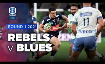Rebels v Blues Rd.1 2021 Super rugby Trans Tasman video highlights