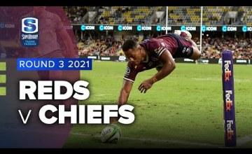 Reds v Chiefs Rd.3 2021 Super rugby Trans Tasman video highlights