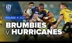 Brumbies v Hurricanes Rd.4 2021 Super rugby Trans Tasman video highlights