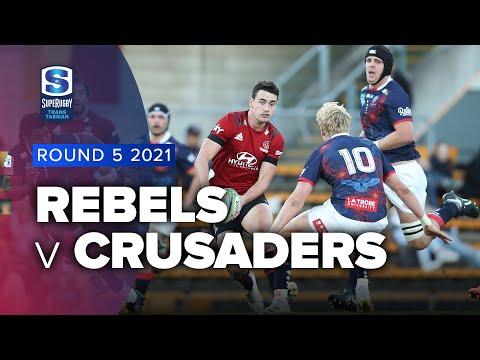 Rebels v Crusaders Rd 5 2021 Super rugby Trans Tasman video highlights