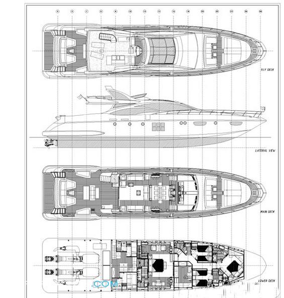 Duke Layout Azimut Yachts Motor Yacht Yacht
