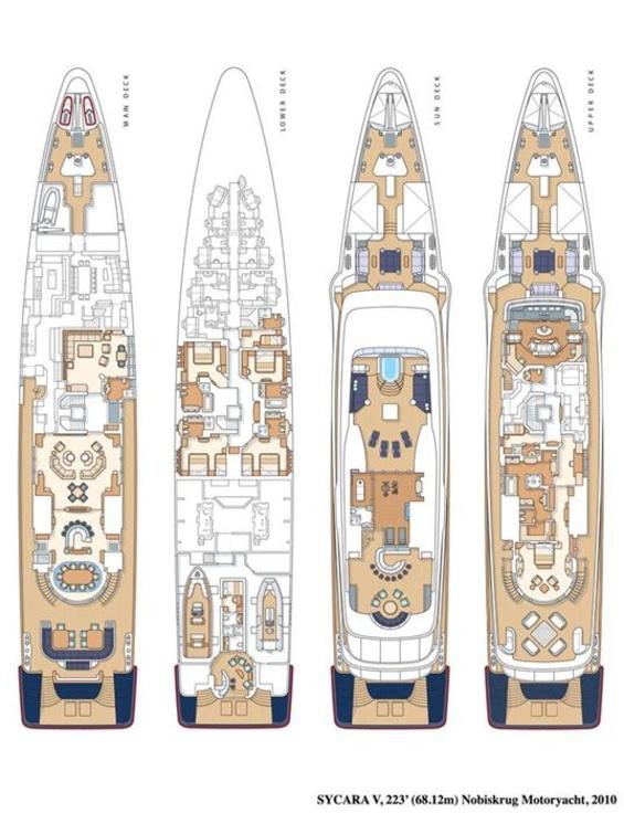 Sycara V Yacht Layout Nobiskrug Motor Yacht